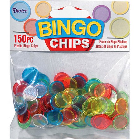 Plastic Bingo Chips, 150-Pack