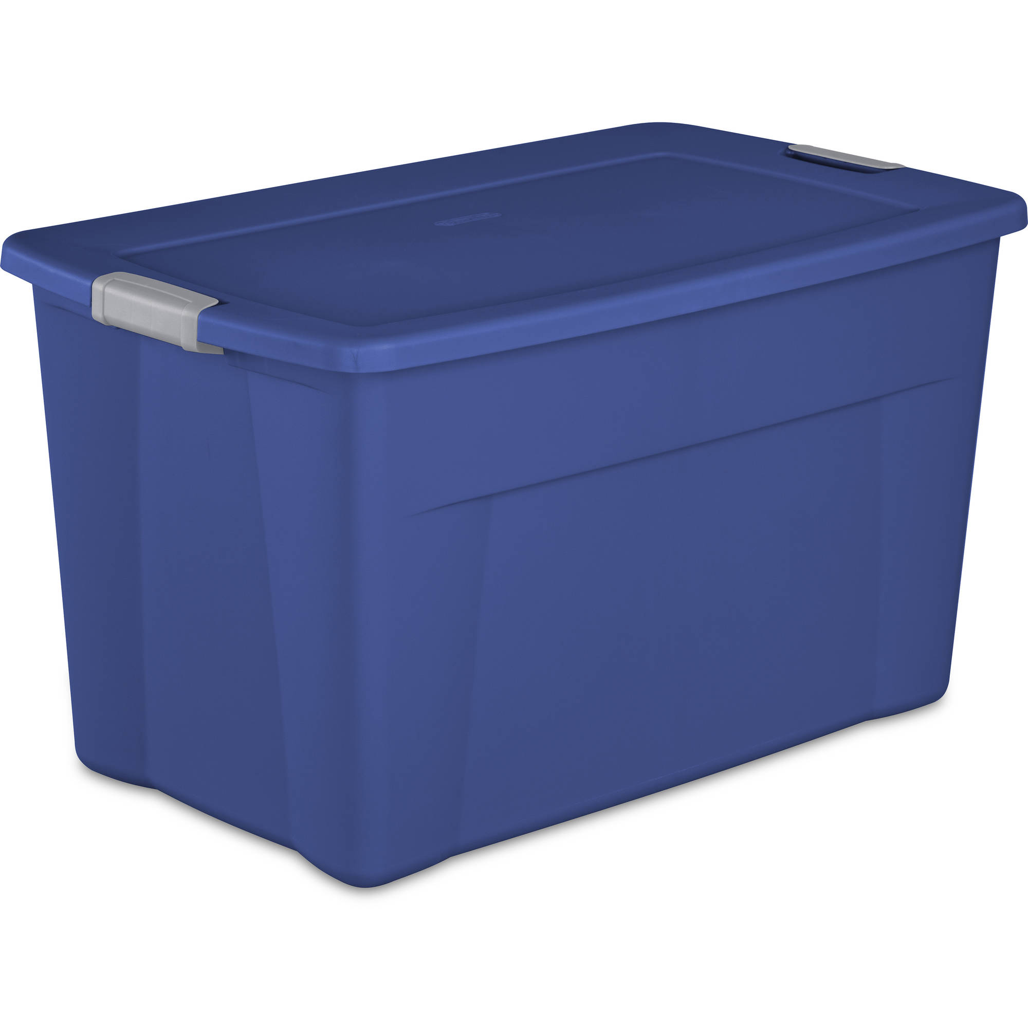 Sterilite 35 Gallon Latch Tote- Stadium Blue, Case of 4