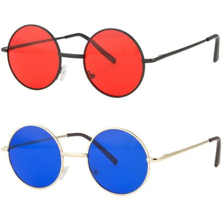 John Lennon style Sunglasses Round Retro vintage style 60s 70s hippie (70s Style Glasses Frames)