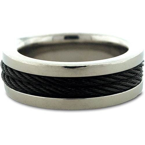 Men's Stainless Steel Rubber Band Ring