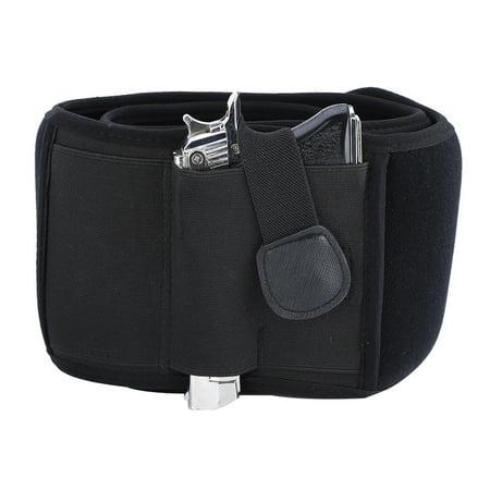 TOPINCN Black Waterproof Neoprene Left Draw Belly Band Concealed Carry Pistol Holster,Belly Band Holster, Gun