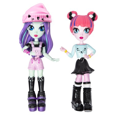 Off The Hook Style BFFs, Brooklyn & Alexis (Concert), 4-inch Small Dolls with Mix and Match Fashions and Accessories, for Girls Aged 5 and Up