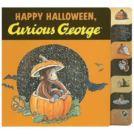 Happy Halloween Curious George (Board Book) - Scary Happy Halloween Font