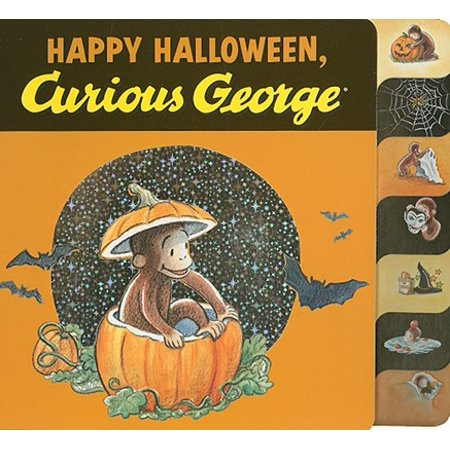 Happy Halloween Curious George (Board Book) - Halloween Books For Kindergarteners