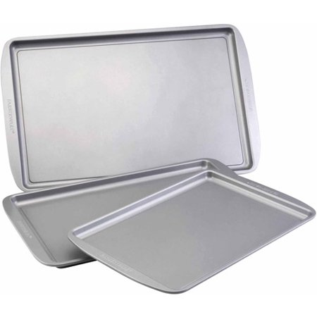 Farberware Nonstick Bakeware 3-Piece Cookie Pan Set,