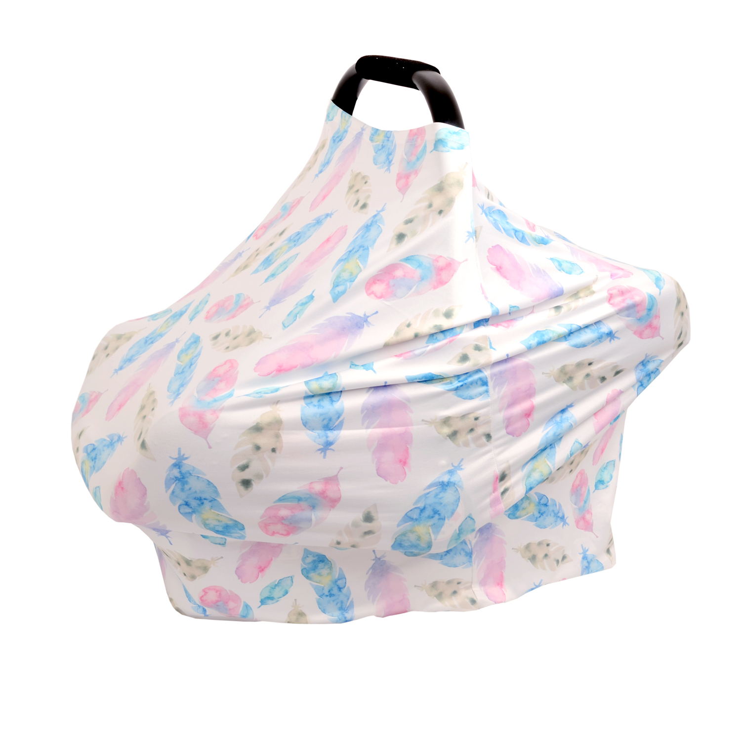 New Multi-Use Stretchy Infinity Scarf Baby Car Seat Cover Nursing Cover Breastfeeding Shopping Cart Cover High Chair Cover (#5)
