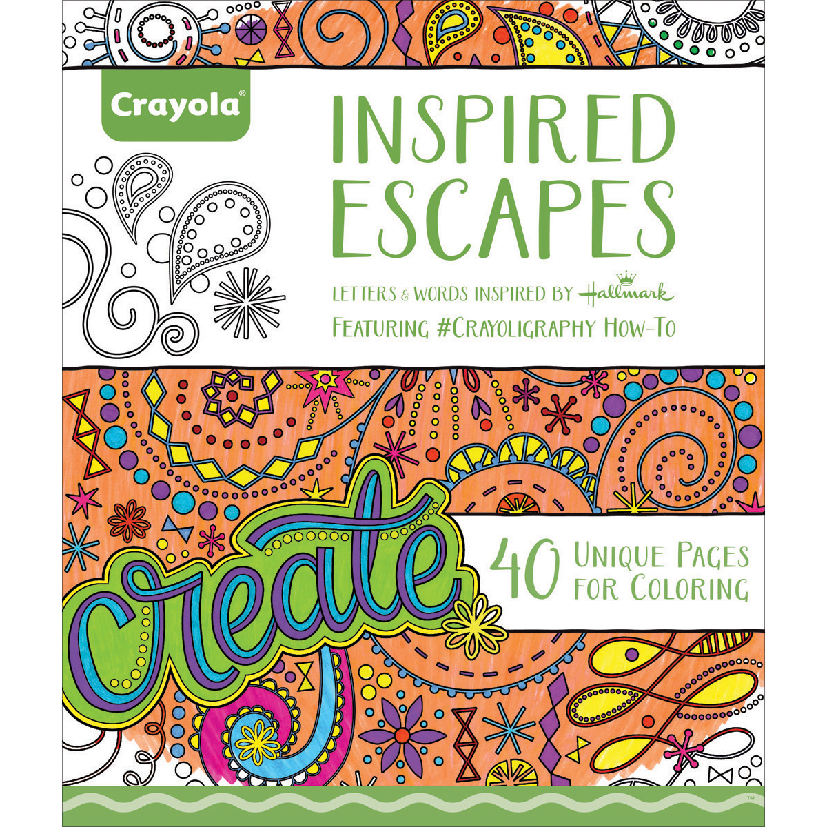 Crayola 40 Page Inspired Escapes Adult Coloring Book