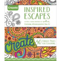 Crayola Adult Coloring Book Inspired Escapes, 40 Pages