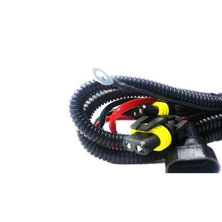 Hid Wiring Harness (SwitchCarParts HID Conversion Kit Universal Single Beam Relay Wiring Harness - H1 H3 H8 H9 H10 H11 9005 9006 5202 880 88 )