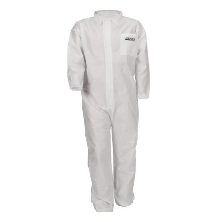 Seachoice 93061 SMS Disposable Portective Breathable Coveralls with Collar, X-Large