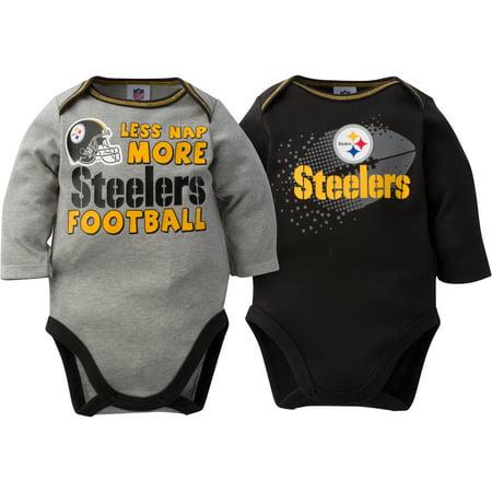 b73f6b0cc NFL - NFL Pittsburgh Steelers Baby Boys Long Sleeve Bodysuit Set