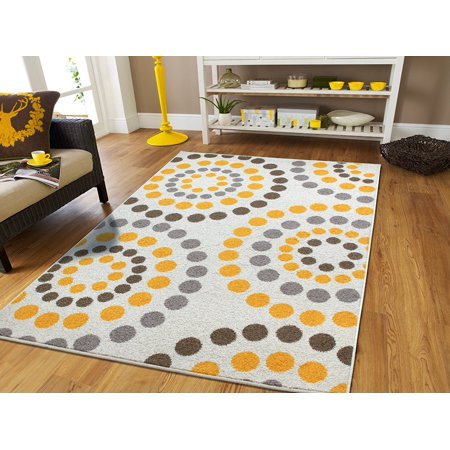 Large Area Rugs For Living Room 8x10 On Clearance Yellow Gray Cream Contemporary