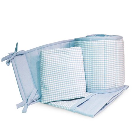Seed Sprout Gingham Portable Crib Bedding 3 Piece Set