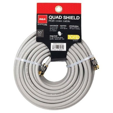 RCA 50-Feet Quad Shield Coax Cable (DH50QCF). (Rca Clothing)