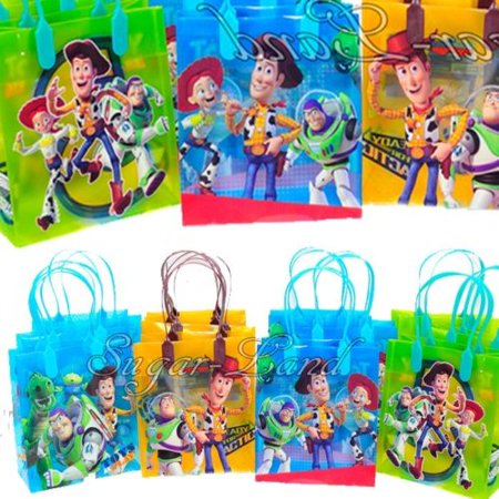 12 Toy Story Party Favor Bags Birthday Candy Treat Favors Gifts Plastic Bolsa De Recuerdos for $<!---->