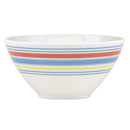 Dansk Cabana Stripe Melamine All Purpose Bowl Mutlicolor Dansk Round Bowls