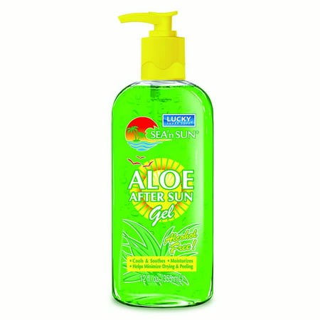 Lucky Super Soft Aloe Vera After Sun Gel, 12 Oz - Super Sun