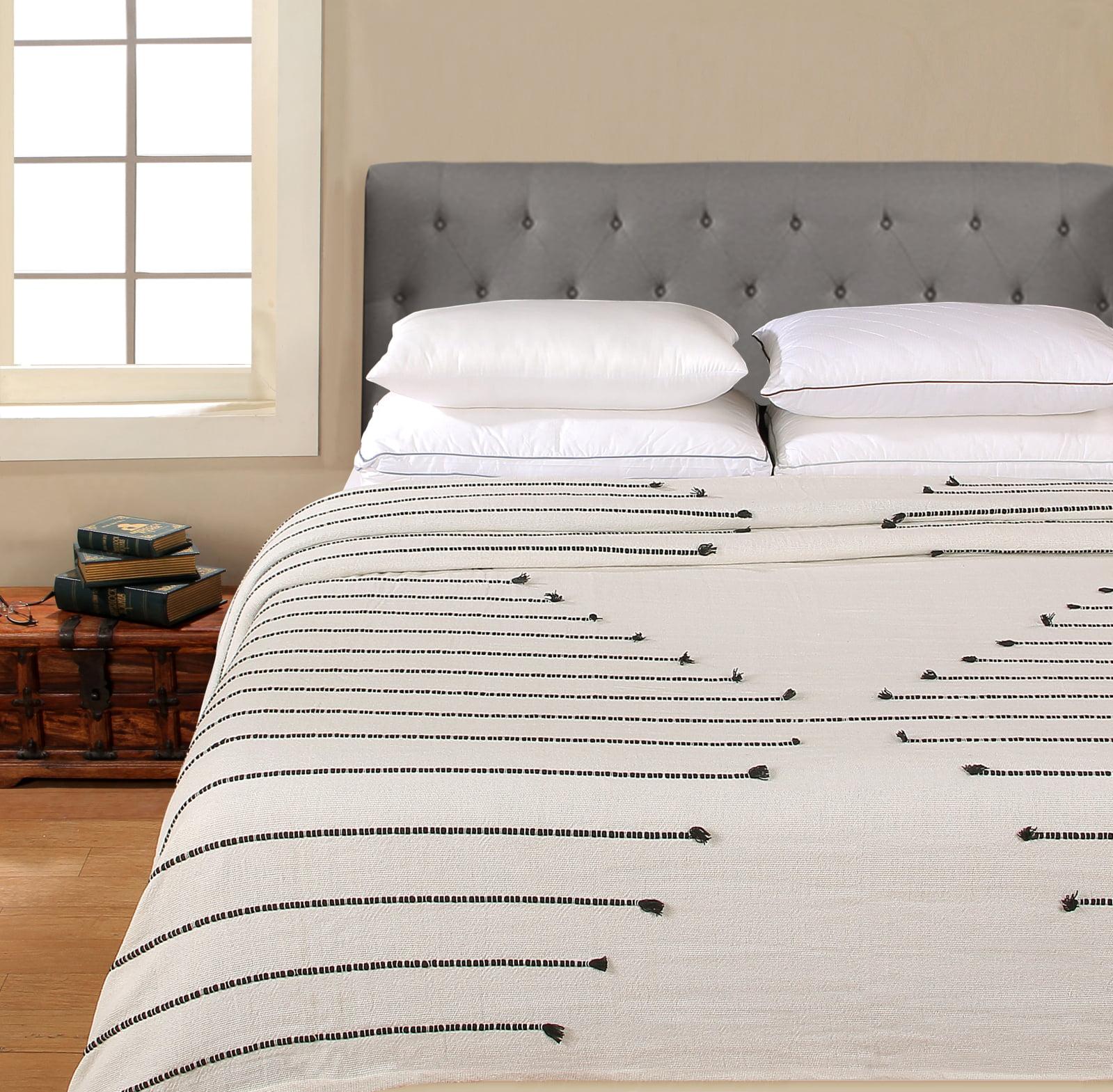 Better Homes & Gardens 100% Cotton Blanket - 3D Stripe Blue