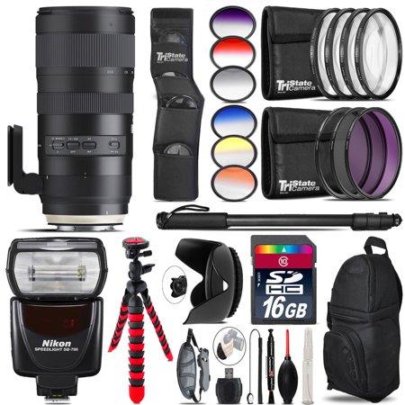 Tamron 70-200mm G2 for Nikon + SB-700 AF Speedlight - 16GB Accessory