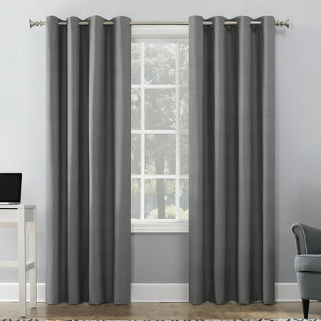 Sun Zero Duran Thermal Insulated 100% Blackout Grommet Curtain Panel Panel Thermal Insulated Polyester Curtains