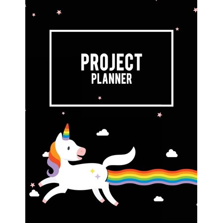 Project Planner: Unicorn Black, Project and Task Organization, Project Tracker Large Print 8.5 X 11 Project to Do List, Idea Notes, Project Budget Planner Project Management Notebook (Paperback)(Large - Chore List Ideas