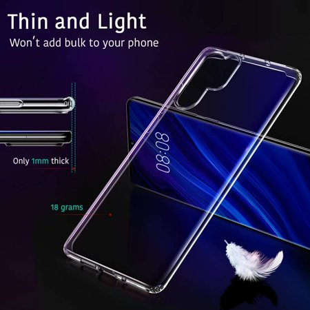 the best attitude 57ba4 0384c Air Slim Clear Soft Case for Huawei P30 Pro, by ESR Thin Slim 0.98mm Soft  TPU Case, Flexible Silicone Protective Cover Anti-Scratch, Clear