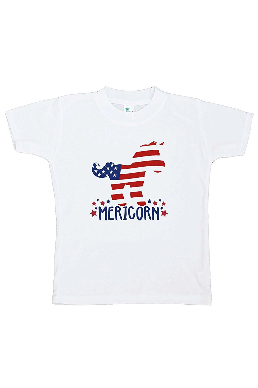 Custom Party Shop Kids Unicorn 4th of July T-shirt - Medium