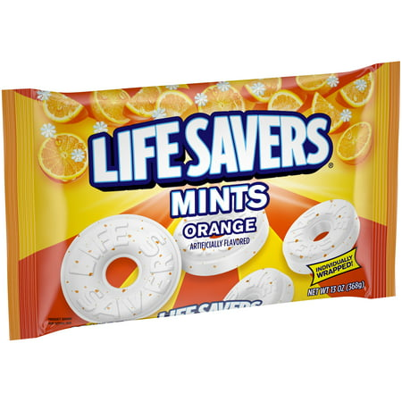 Life Savers Orange Mint Hard Candy Bag, 13 Ounce - Penguin Mints