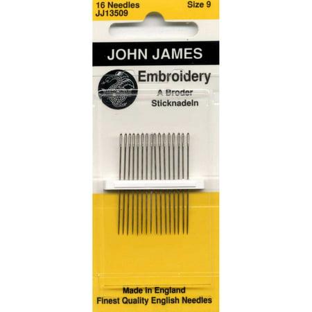 Colonial Needle Co John James Embroidery / Crewel Needles Size 9