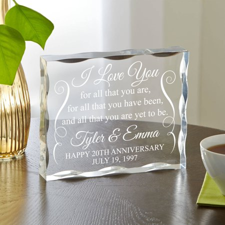 Shape Acrylic Plaque (Personalized Yet to Be Anniversary Acrylic Block)