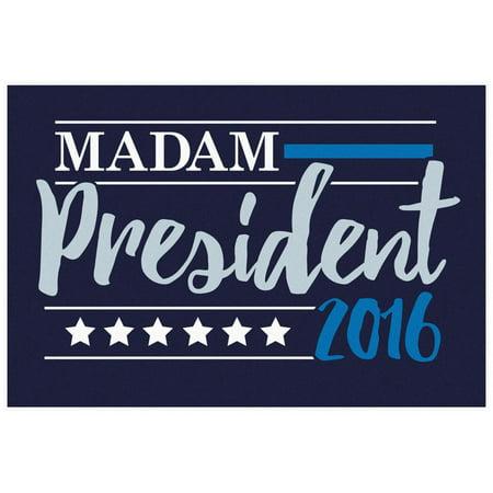 Madam President 2016 Navy Banner Poster - 19x13 ()