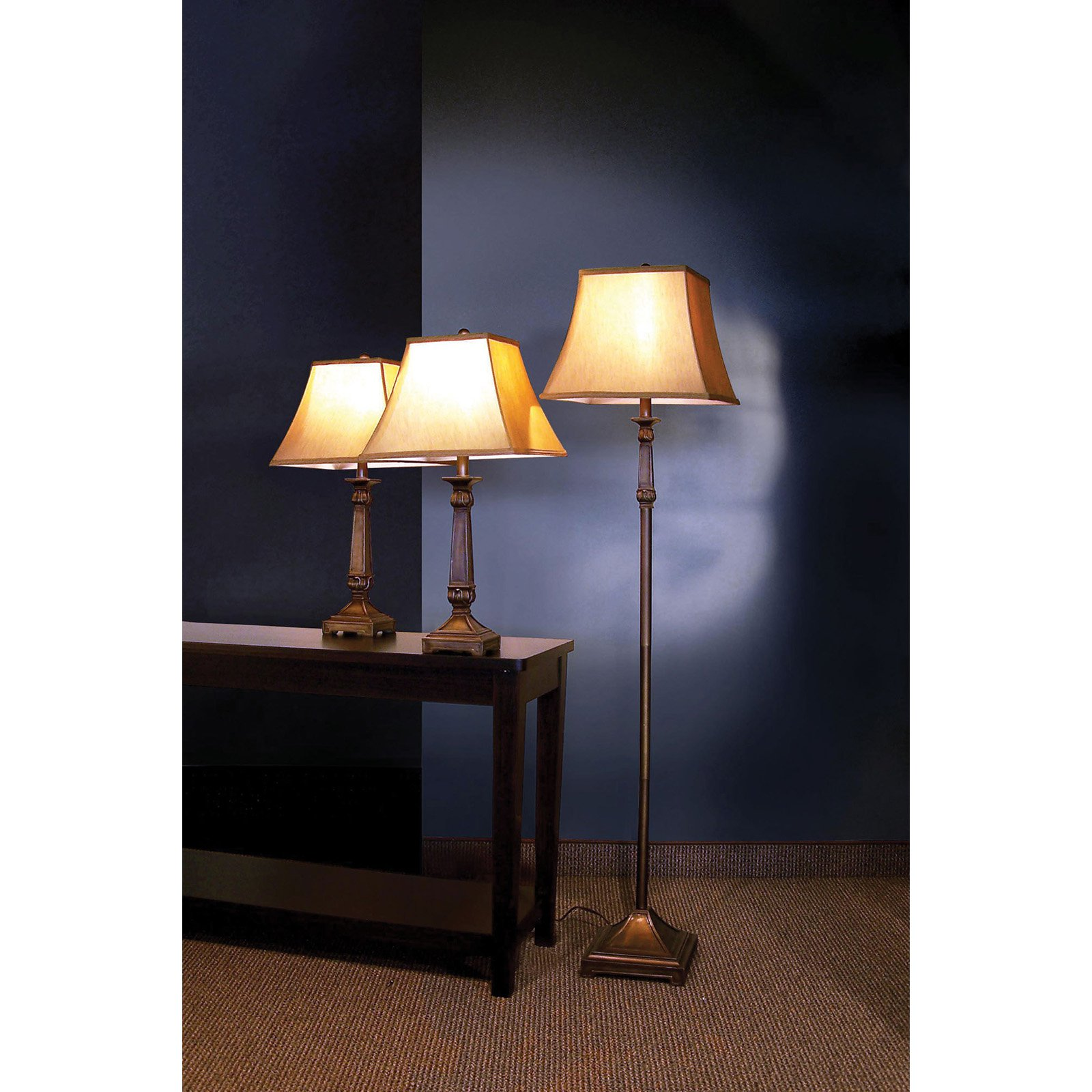 Coaster Company of America 901145 Three Piece Floor and Table Lamps