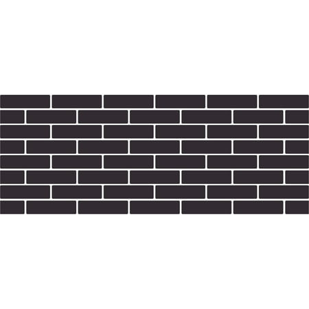 Brick patterned Headboard Decal - Large - Cobalt ()