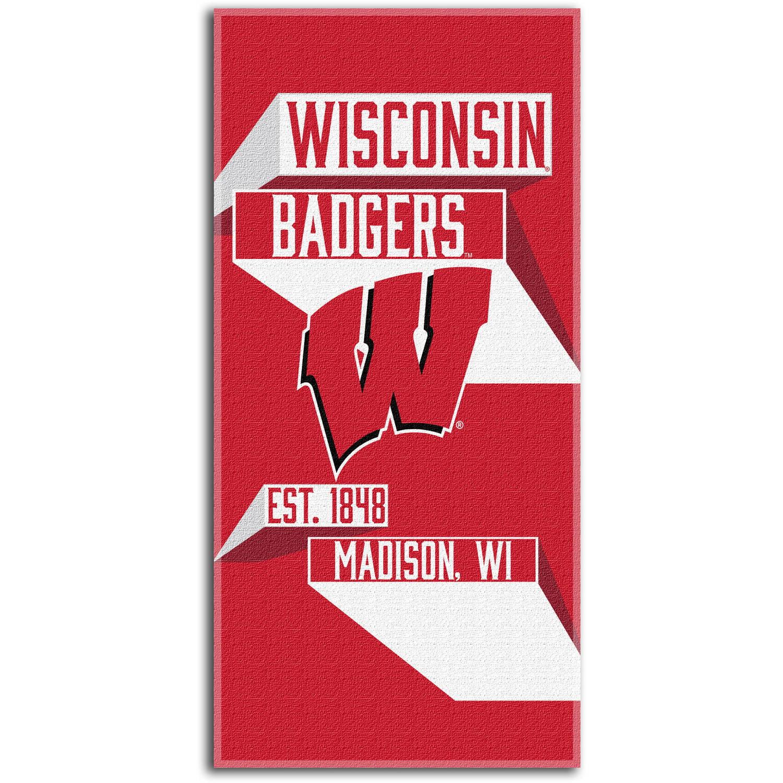"""NCAA """"Head Strong"""" 30"""" x 60"""" Beach Towel, Wisconsin Badgers"""