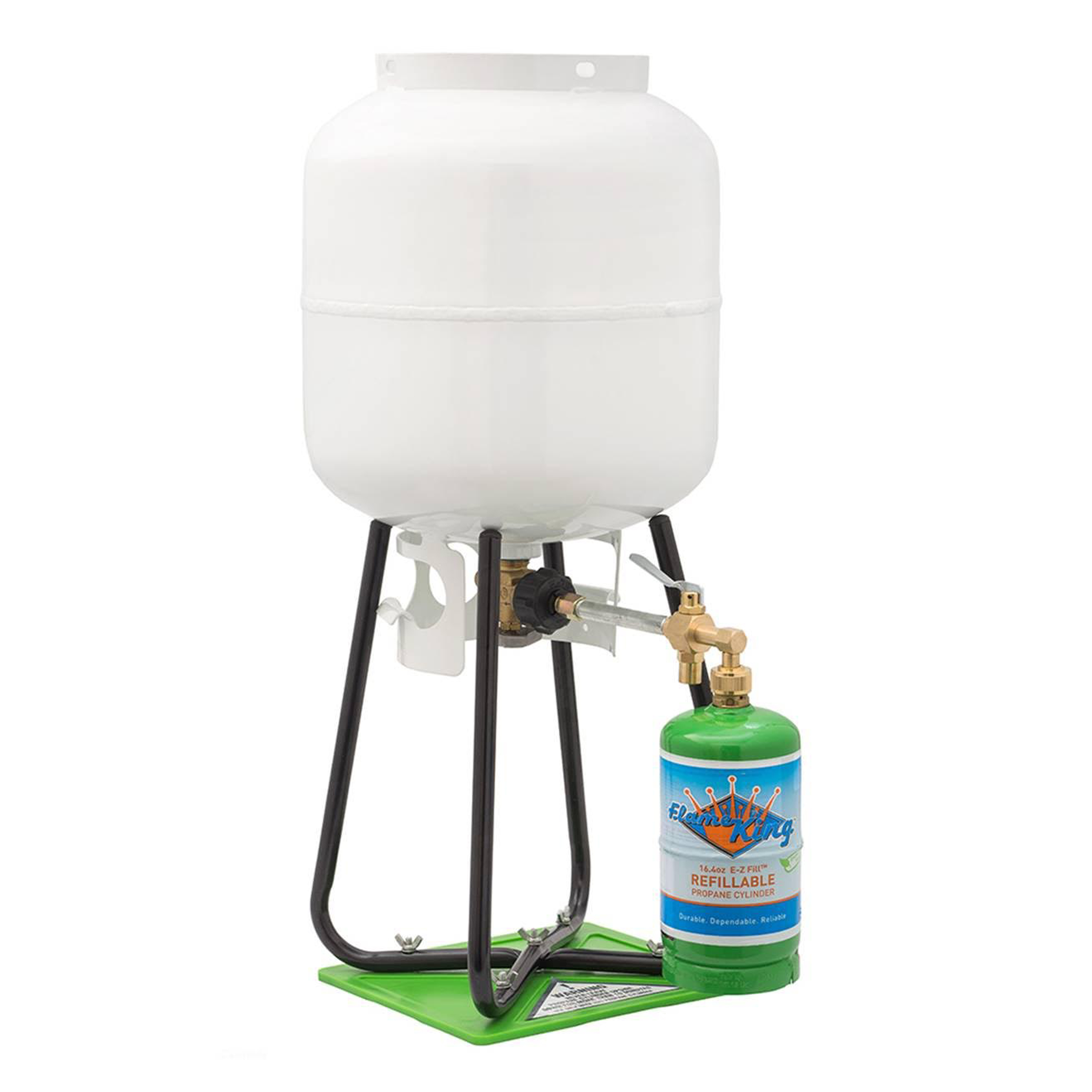 1 lb Refillable Propane Cylinder with Refill Adapter Kit ...