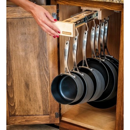 glideware pull out cabinet organizer for pots pans. Black Bedroom Furniture Sets. Home Design Ideas