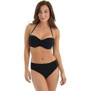 Profile by Gottex Women's Black Bandeau Bikini 2 Piece Set Convertible Bandeau