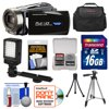 Bell & Howell DNV16HDZ 1080p HD Video Camera Camcorder with Infrared Night Vision (Black) with 16GB Card + Case + Tripod + LED Video Light + Accessory Kit Bell + Howell DNV16HDZ HD 1080p Camcorder w/ Infrared Night Vision <br>Touch digital video camcorder with infrared night vision. The <b>Bell + Howell DNV16HDZ</b> is an affordable high definition camcorder that <b>records up to 20 hours of video</b> to removable SD/SDHC memory cards (20 hours per 32GB card). The DNV16HDZ HD features a <b>16.0 MP resolution</b> built-in digital camera, <b>10x optical zoom</b>, <b>slow motion playback</b>, and much more to help you capture your memories in sharp detail. Other useful features like the <b>3.0 Touch Widescreen LCD</b> display with 270degrees swivel and the <b>built-in video light/camera flash</b> further aid in getting just the right shot. In addition, the DNV16HDZ HD also gives you the ability to capture vivid HD video in <b>16:9 widescreen format (1920 x 1080p)</b> with a frame rate of 30fps and H.264 compression. Take quality photos or video in the dark with night scene mode and or with <b>infrared night vision</b> even the darkest images will stand out in stark contrast. <br><br><b>Key Features:</b><br> <b>Built-in 16.0 Megapixel Digital Camera</b><br> Impressive 4000x3000 resolution of 16.0 Megapixels for sharp, crisp still images. The high quality image sensor that ensures sharp, vivid HD video also gives you brilliant digital photographs. <b>3.0 Full-Touch Large Swivel 16:9 Wide LCD Screen</b><br> High resolution LCD display that rotates up to 270 degrees for multiple viewing angles. The touch panel LCD screen enables intuitive interaction with the camcorder, putting the power to capture and create exquisite images at your fingertips. The widescreen format makes shooting in 16:9 mode and composing shots even easier. <b>Innovative Touch Screen Controls</b><br> The 3.0-inch wide color LCD display also functions as a touch screen control for all settings of the cam