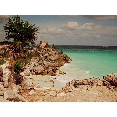 Mayan Ruins Near Cancun Print Wall Art