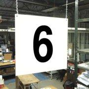 STRANCO INC HPS-FS1212-6 Hanging Aisle Sign,Legend 6