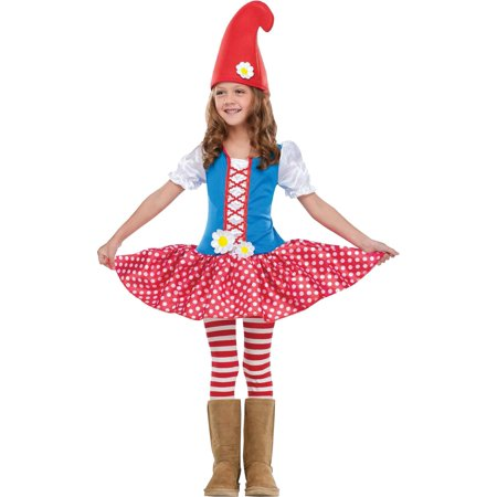 Gnome Girl Costume  Toddler Small](Gnome Costume Toddler)