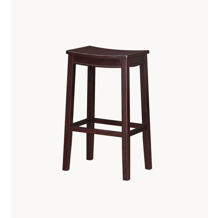 Fine Linon Aubree Wood Bar Saddle Stool Espresso 30 Inch Seat Height Onthecornerstone Fun Painted Chair Ideas Images Onthecornerstoneorg