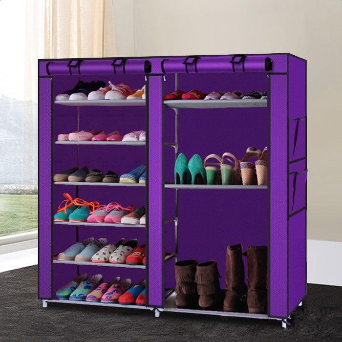 Great Ktaxon Double Shoe Boot Closet Rack Shelf Storage Organizer Cabinet,9 Layer