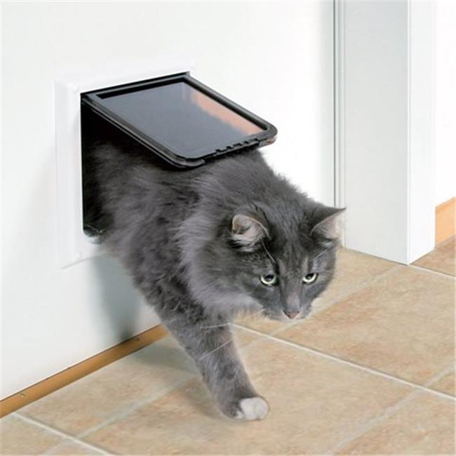 4-Way Locking Cat Door With Tunnel, Extra Large, White