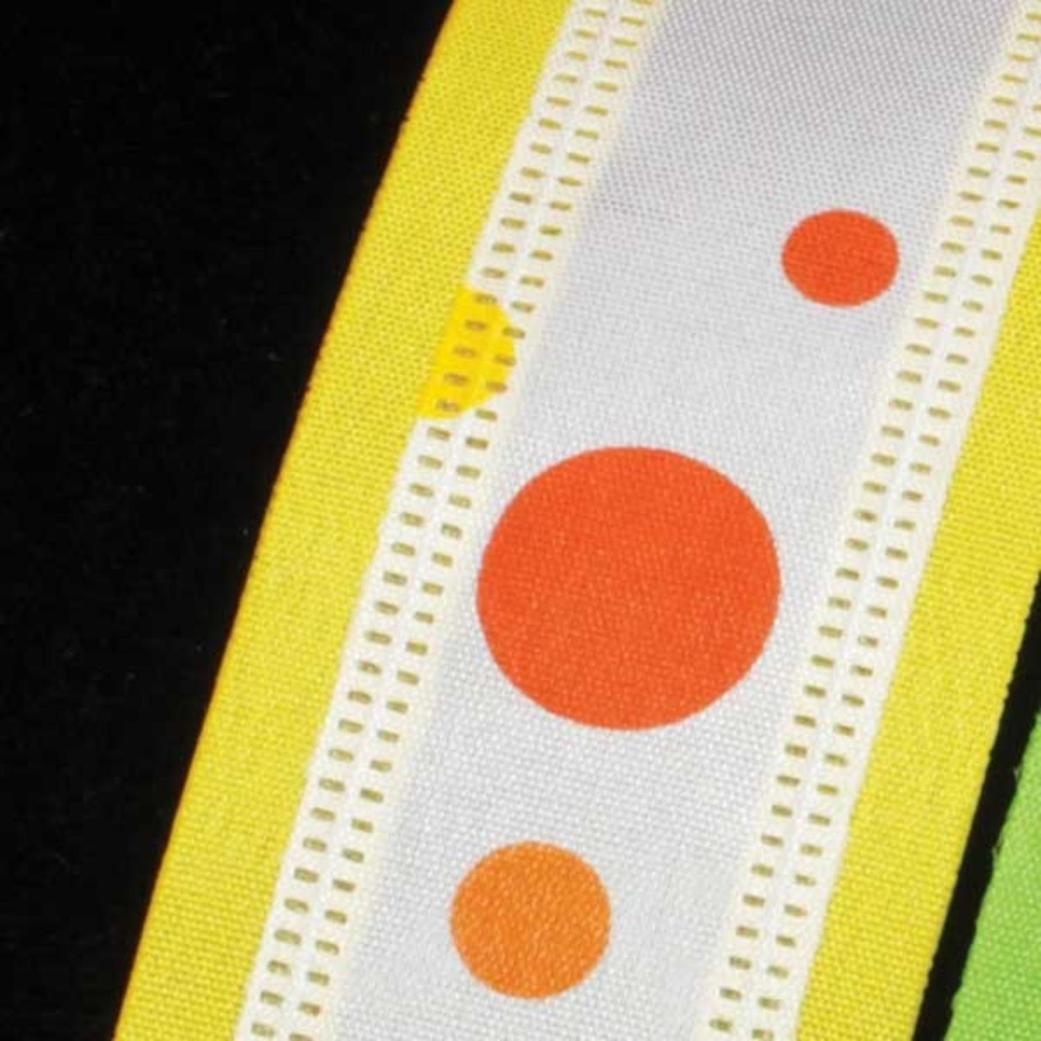 """Zip-a-dee Doo-Dots Yellow and Orange Wired Craft Ribbon 1.5"""" x 40 Yards"""