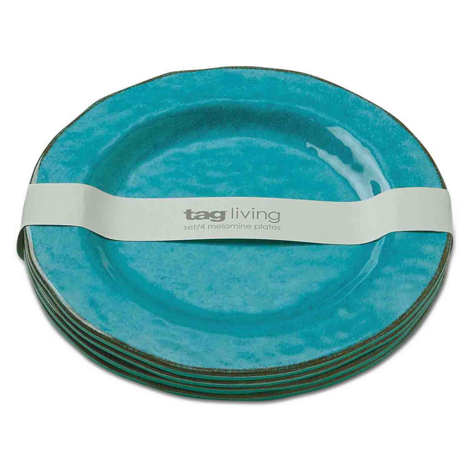 tag HomeDecor TAG Fresh Flowers Melamine Salad Plate Set Of 4 Multi