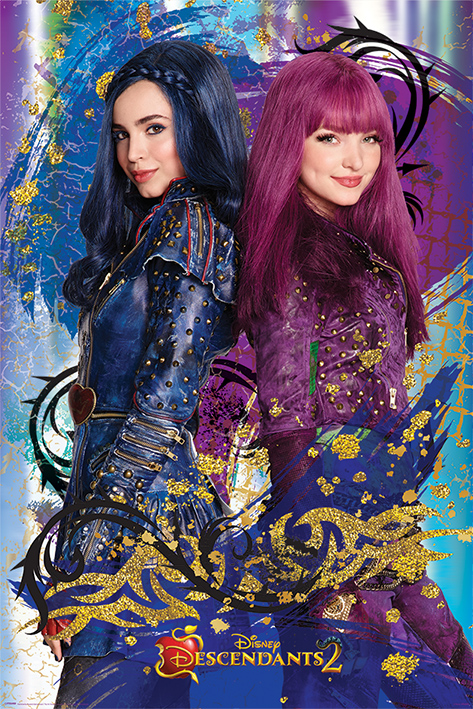 "Disney's Descendants 2 TV Movie Poster   Print (Mal & Evie) (Size: 24"" x 36"") by"