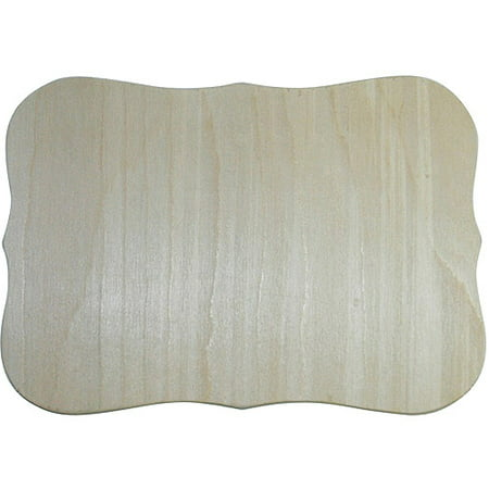 MPI Unfinished Wood Baltic Birch Plaque, Roman, 7.5
