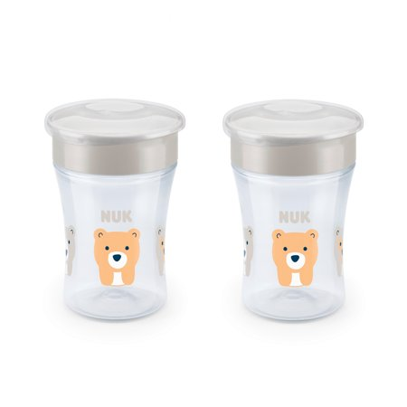 8 Oz No Spill Cup (NUK Evolution 360 Cup, 8 oz., 2-Pack)