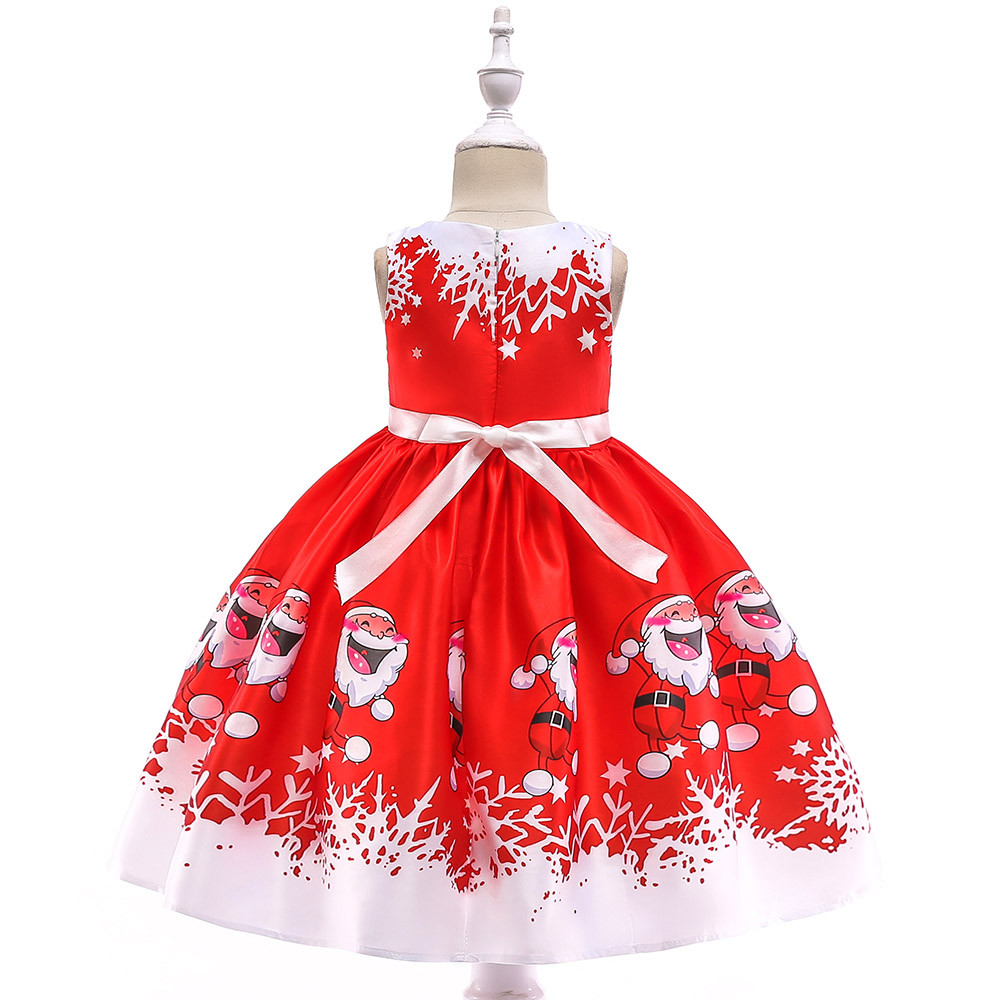 052072d9f9bad Mosunx - Mosunx Toddler Kids Baby Girls Santa Print Princess Dress  Christmas Outfits Clothes - Walmart.com